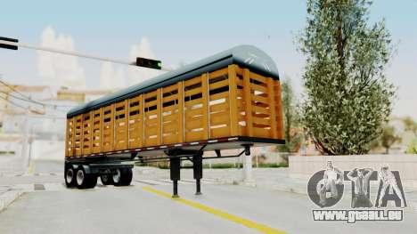 Trailer de Estacas für GTA San Andreas zurück linke Ansicht