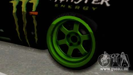 Nissan Skyline R33 Drift Monster Energy Falken für GTA San Andreas Rückansicht