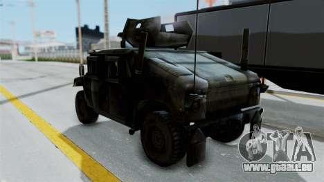 Humvee M1114 Woodland für GTA San Andreas zurück linke Ansicht