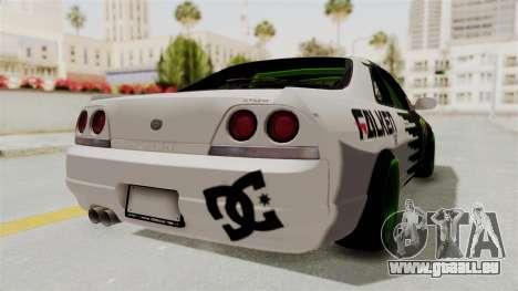 Nissan Skyline R33 Drift Monster Energy Falken für GTA San Andreas rechten Ansicht