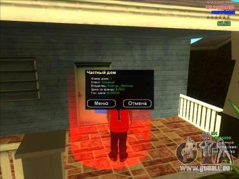 Chequer maisons pour ARP pour GTA San Andreas cinquième écran