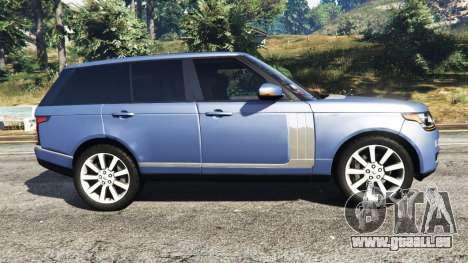 GTA 5 Range Rover (L405) Vogue 2013 vue latérale gauche