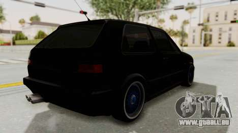 Volkswagen Golf 2 GTI pour GTA San Andreas sur la vue arrière gauche