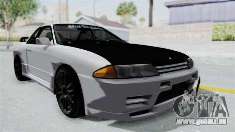 Nissan Skyline BNR32 Hot Version pour GTA San Andreas vue de droite
