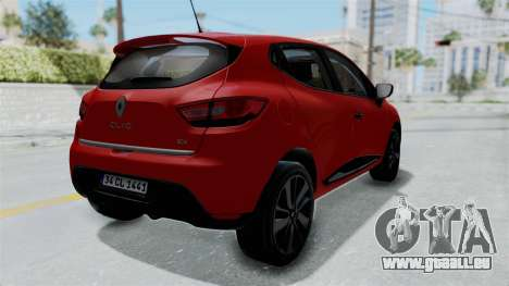 Renault Clio 4 HQLM für GTA San Andreas rechten Ansicht