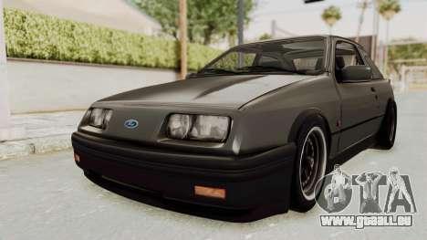 Ford Sierra Mk1 Drag Version pour GTA San Andreas vue de droite