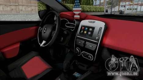 Renault Clio 4 IVF für GTA San Andreas Rückansicht