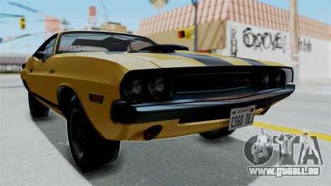 Dodge Challenger RT 440 1970 Six Pack für GTA San Andreas rechten Ansicht