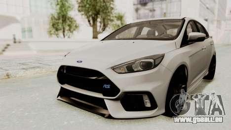 Ford Focus RS 2017 für GTA San Andreas zurück linke Ansicht