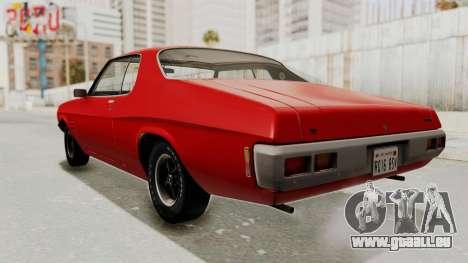 Holden Monaro GTS 1971 SA Plate IVF pour GTA San Andreas sur la vue arrière gauche