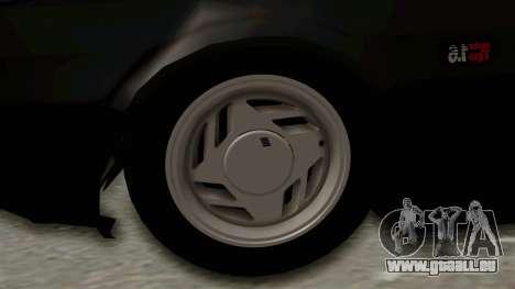 Fiat Uno für GTA San Andreas Rückansicht