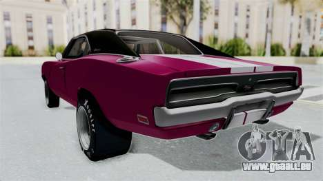 Dodge Charger 1969 Drag für GTA San Andreas zurück linke Ansicht