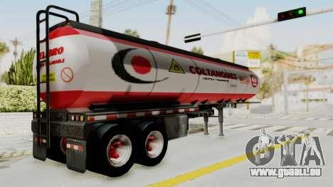 Trailer de Conbustible pour GTA San Andreas laissé vue