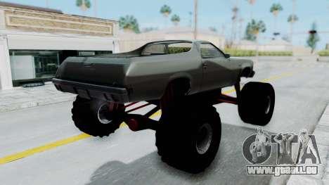 Chevrolet El Camino 1973 Monster Truck pour GTA San Andreas laissé vue