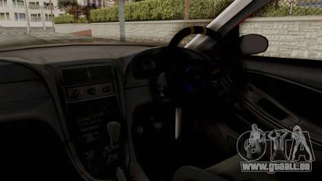 Ford Mustang 1999 Rusty Rebel pour GTA San Andreas vue intérieure