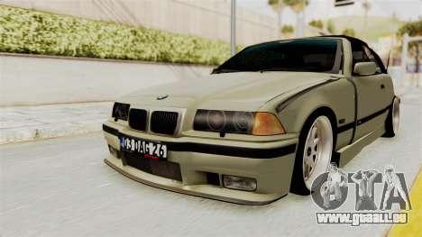 BMW 320CI E36 pour GTA San Andreas sur la vue arrière gauche