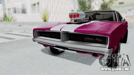Dodge Charger 1969 Drag pour GTA San Andreas vue de droite