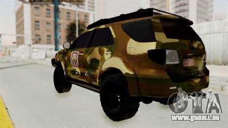 Toyota Fortuner 4WD 2015 Paraguay pour GTA San Andreas laissé vue