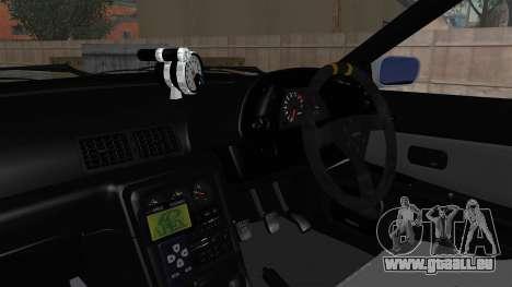 Nissan Skyline BNR32 Hot Version pour GTA San Andreas vue intérieure