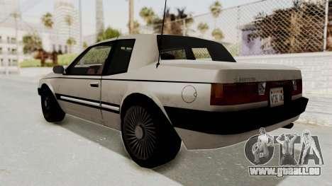 Imponte Bravura V6 Sport 1990 für GTA San Andreas zurück linke Ansicht