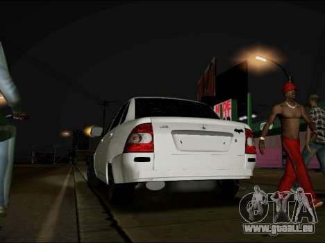 Lada Priora BPAN pour GTA San Andreas laissé vue