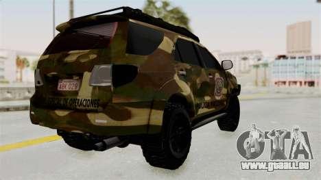 Toyota Fortuner 4WD 2015 Paraguay pour GTA San Andreas vue de droite