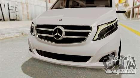 Mercedes-Benz V-Class 2015 für GTA San Andreas Unteransicht