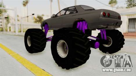 Nissan Skyline R32 4 Door Monster Truck für GTA San Andreas linke Ansicht