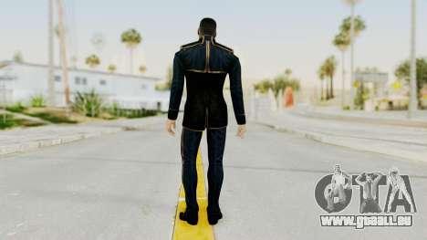 Mass Effect 3 Shepard Formal Alliance Uniform für GTA San Andreas dritten Screenshot