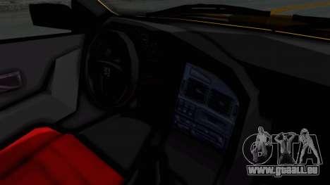 Peugeot Pars Full Sport pour GTA San Andreas vue intérieure