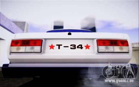VAZ 2107 FIV pour GTA San Andreas vue intérieure