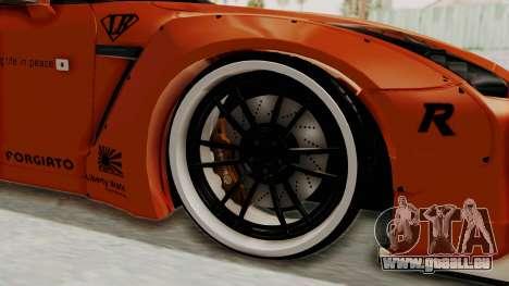 Nissan GT-R R35 Liberty Walk LB Performance pour GTA San Andreas vue arrière