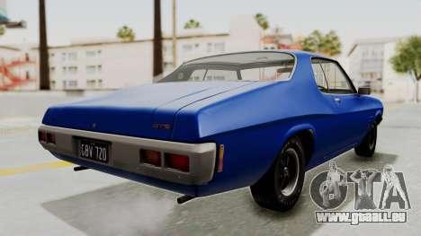 Holden Monaro GTS 1971 AU Plate IVF pour GTA San Andreas sur la vue arrière gauche