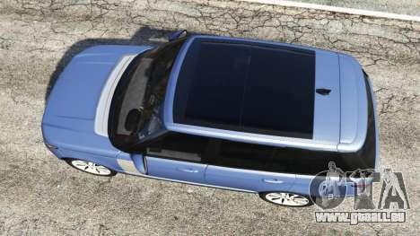 GTA 5 Range Rover (L405) Vogue 2013 vue arrière