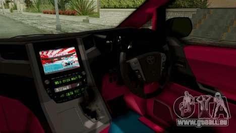 Toyota Vellfire Hatsune Miku Senbonzakura Itasha für GTA San Andreas Innenansicht