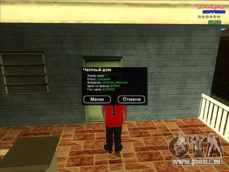 Chequer maisons pour ARP pour GTA San Andreas deuxième écran