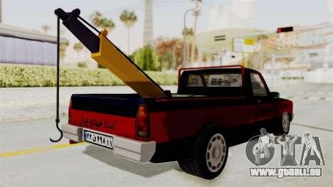 Mazda Tow Truck Pickup pour GTA San Andreas laissé vue