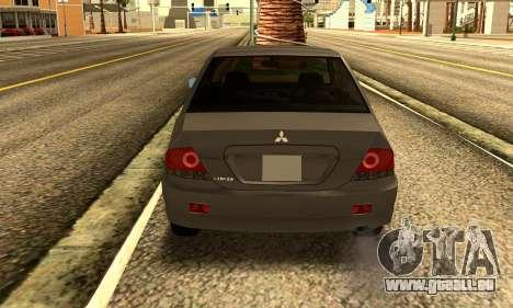 Mitsubishi Lancer 2005 für GTA San Andreas rechten Ansicht