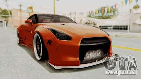 Nissan GT-R R35 Liberty Walk LB Performance pour GTA San Andreas vue de droite
