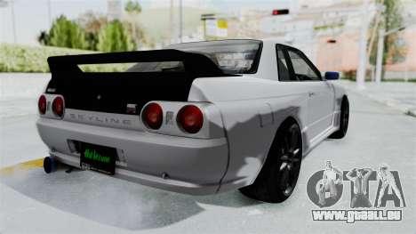 Nissan Skyline BNR32 Hot Version pour GTA San Andreas sur la vue arrière gauche