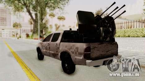 Toyota Hilux 2014 Army Libyan pour GTA San Andreas laissé vue