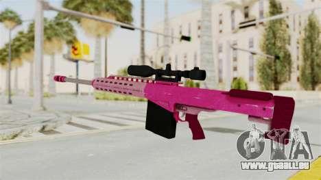 GTA 5 Heavy Sniper Pink pour GTA San Andreas deuxième écran