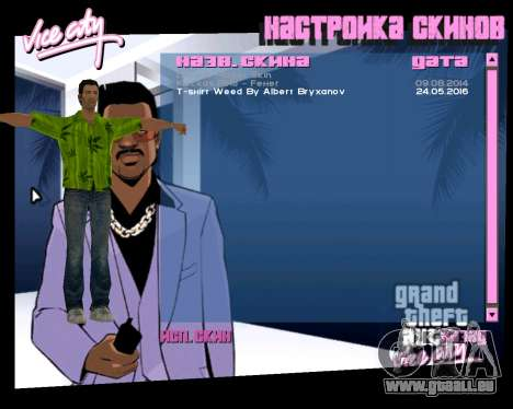 Weed T-Shirt für GTA Vice City dritte Screenshot