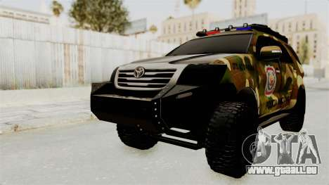 Toyota Fortuner 4WD 2015 Paraguay pour GTA San Andreas