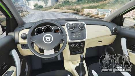 GTA 5 Dacia Sandero Stepway 2014 arrière droit vue de côté