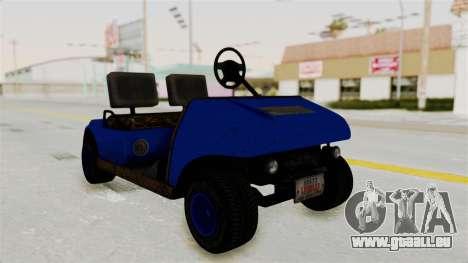 GTA 5 Gambler Caddy Golf Cart IVF pour GTA San Andreas