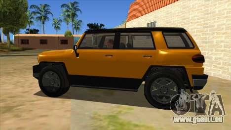 Karin Beejay XL pour GTA San Andreas laissé vue