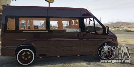 GTA 5 Ford Transit 1.1 [Replace] linke Seitenansicht