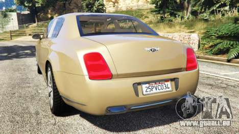 GTA 5 Bentley Continental Flying Spur 2010 hinten links Seitenansicht