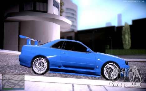 Nissan Skyline GT-R R34 für GTA San Andreas rechten Ansicht